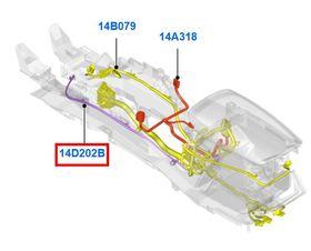 FORD MONDEO MK5 2014 - / FUSION 2013 - PRZEWÓD USB TUNELU ŚRODKOWEGO OE _ DS7T-14D202-BF
